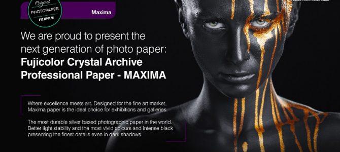 Fujifilm launches next generation silver halide photo paper 'Maxima'