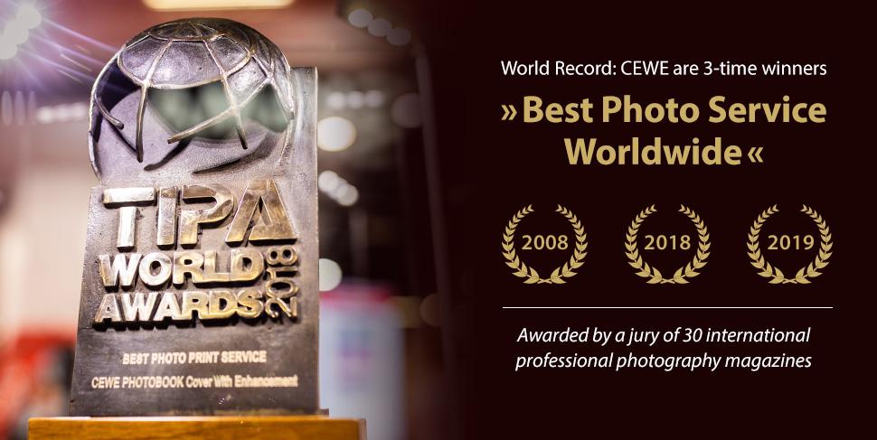 CEWE receives the TIPA World Award