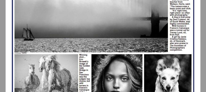 Monochrome Photography Competition images make the National Papers.