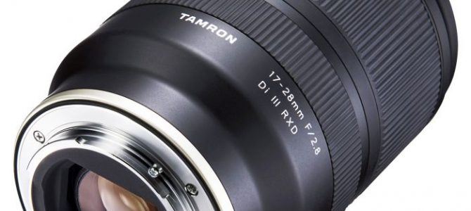Tamron's NEW 17-28mm F/2.8 Di III RXD lens  for Sony FE, full frame mirrorless cameras