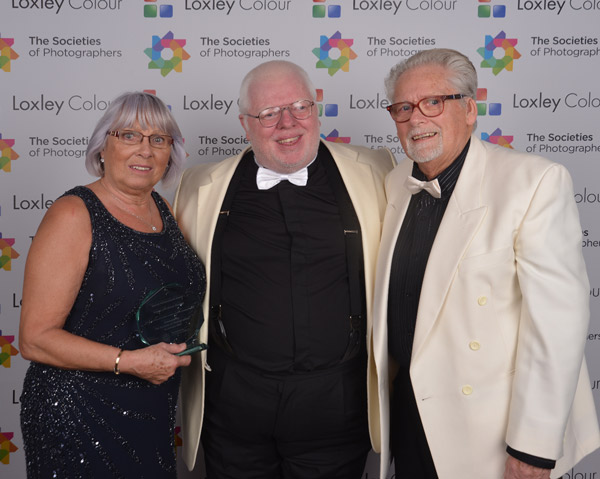 Phil Jones The Societies' CEO with George and Glenys Dawber.