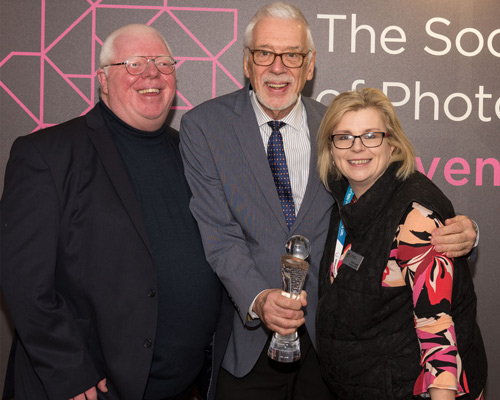 Phil and Juliet Jones from The Societies of Photographers with Llewellyn Robins.