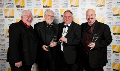 Phil Jones Societies' CEO with George Dawber, Aled Oldfield and Damian McGillicuddy