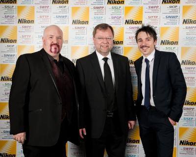 Damian McGillicuddy Societies' Judge with Roman Melnyk and Richard P Walton