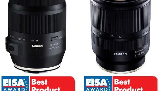 Tamron lenses awarded with two prestigious EISA Awards in 2019