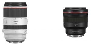 Canon RF 70-200mm F2.8L IS USM and RF 85mm F1.2L USM DS