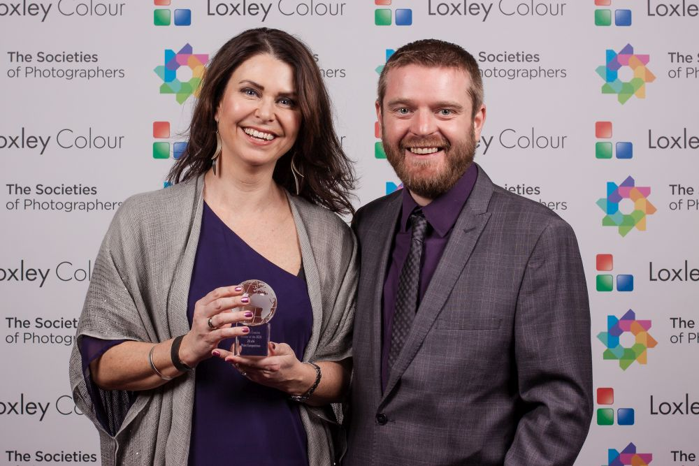 Ben Jones presents Martina Warenfeldt with the award.