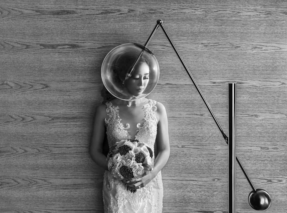 """20 x 16"""" Wedding Day Bride or Groom Alone 2020 2nd Place:  Mauro Cantelmi"""
