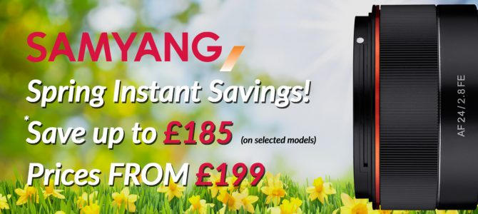 Samyang Spring Instant Savings Finishing 31st March