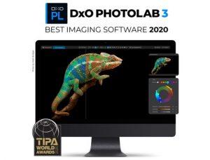 DxO PhotoLab 3 was awarded the 2020 TIPA Award