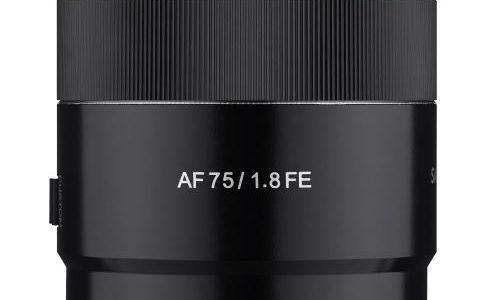 SAMYANG launches New AF 75mm F1.8 FE