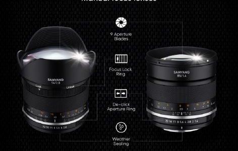 SAMYANG Announces Mk2 Versions of Legendary Manual Focus Lenses for full frame DSLRs: NEW MF 14mm F2.8 Mk2 and MF 85mm F1.4 Mk2