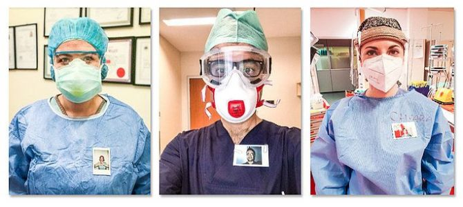 Instax instant cameras are helping NHS frontline staff share a smile with patients from behind their PPE