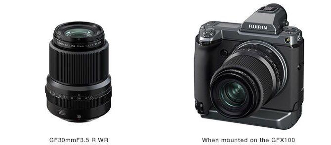Fujifilm releases FUJINON Lens GF30mmF3.5 R WR