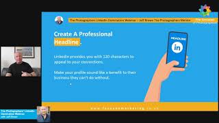 The Photographers' LinkedIn Domination Webinar with Jeff Brown – The Photographers Mentor