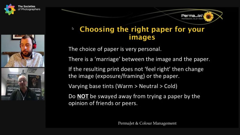 Choosing the right paper for your images