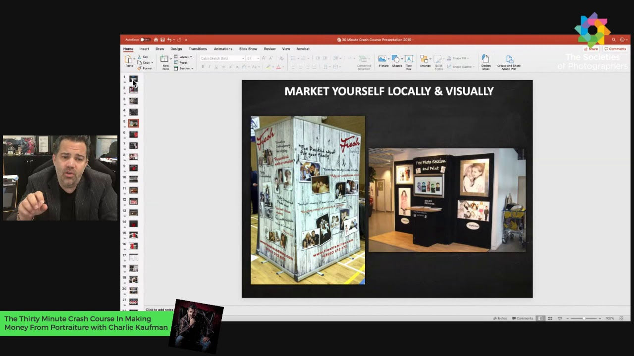 The Thirty Minute Crash Course In Making Money From Portraiture with Charlie Kaufman FSWPP (Hon)