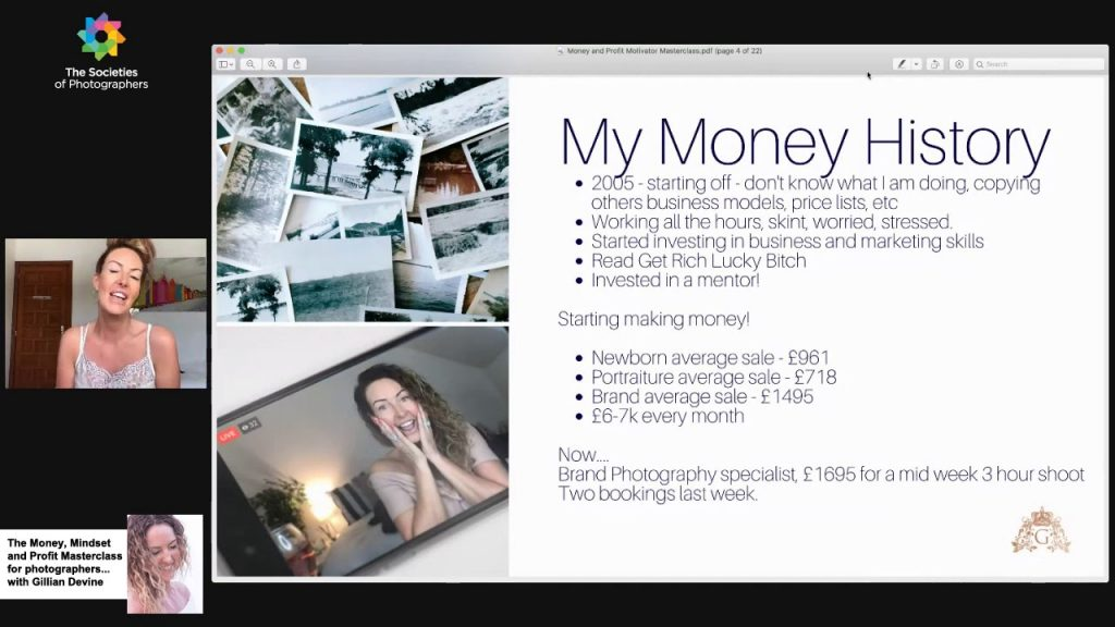 The Money, Mindset and Profit Masterclass for photographers