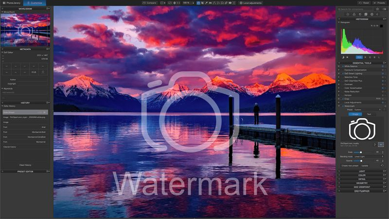 DxO Instant Watermarking