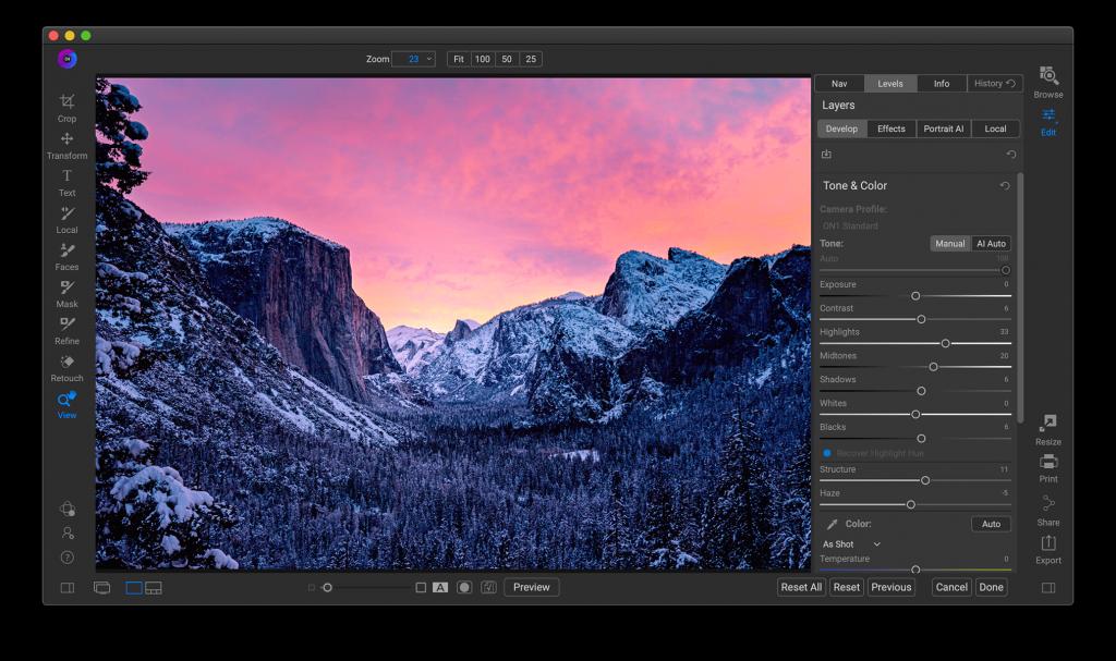 ON1 Photo RAW version 2021 for Desktop & Mobile