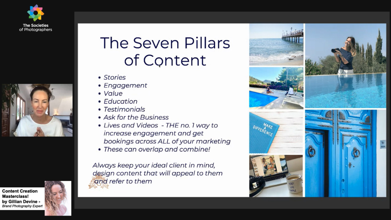 Webinar: Content Creation Masterclass! by Gillian Devine