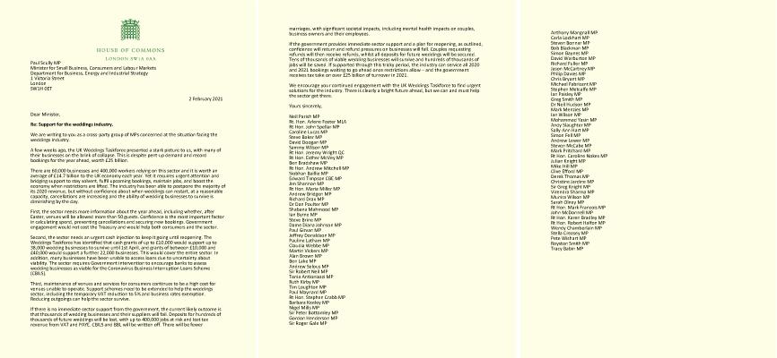 MPs Letter