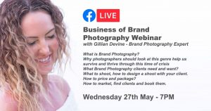 Business of Brand Photography Webinar with Gillian Devine