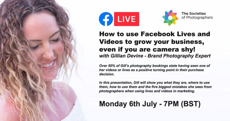 How to use Facebook Lives and Videos to grow your business, even if you are camera shy! with Gillian Devine – Brand Photography Expert