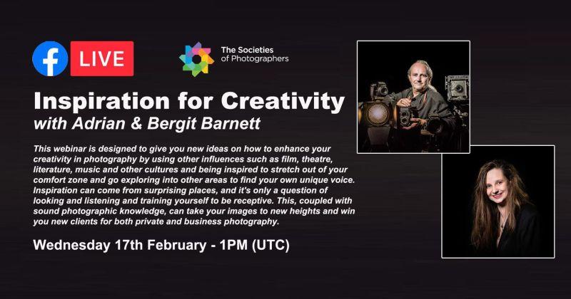 Webinar: Inspiration for Creativity with Adrian and Bergit Barnett