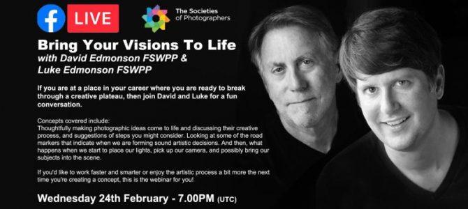 Webinar: Bring Your Visions To Life with David Edmonson FSWPP & Luke Edmonson FSWPP