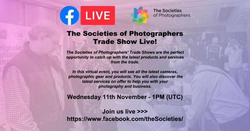 The Societies of Photographers Trade Show Live!
