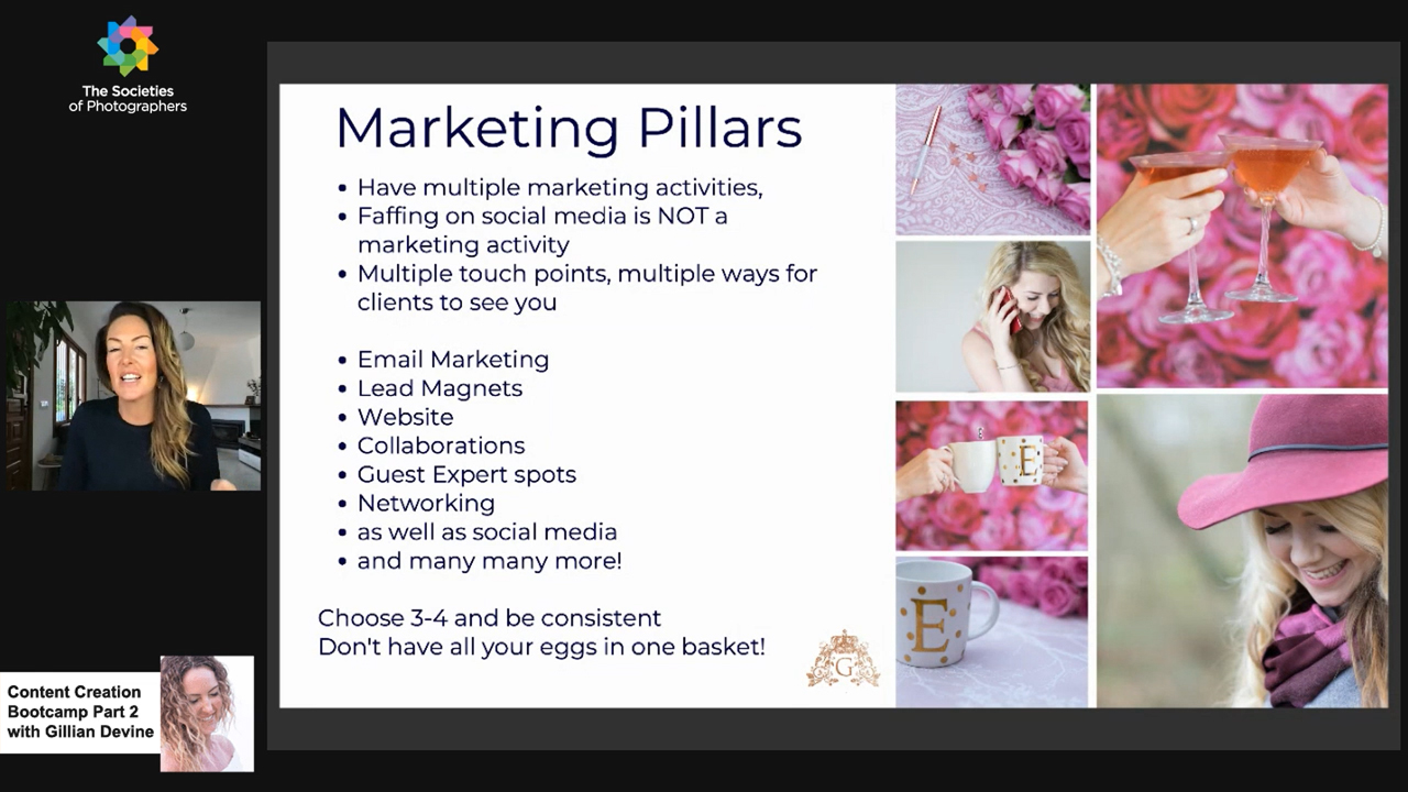 Content Creation Bootcamp Part 2 with Gillian Devine