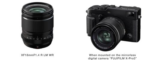 Fujifilm launches FUJINON Lens XF18mmF1.4 R LM WR