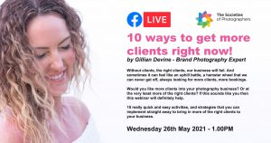 Webinar: 10 ways to get more clients right now! By Gillian Devine - Brand Photography Expert