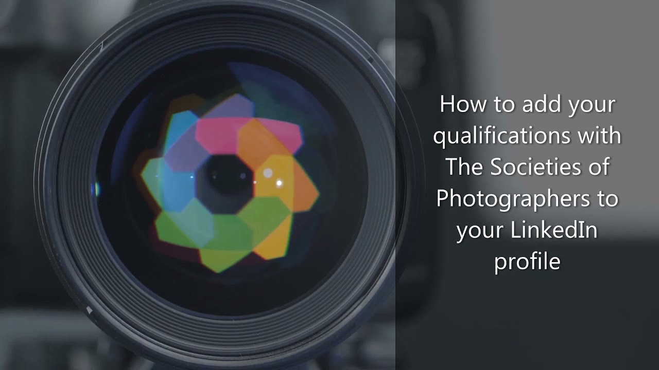 How to add your qualifications with The Societies of Photographers to your LinkedIn profile.